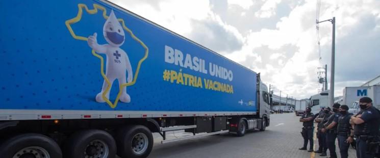 Entrega de cerca de 11 milhões de doses de vacina contra Covid-19 permite ao Brasil antecipar meta de imunização