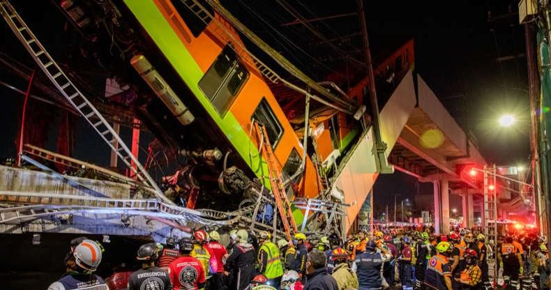 Vídeo assustador mostra momento em que estrutura do metrô desaba no México