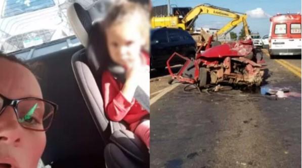 """Mãe diz """"vamos ali se matar"""" e joga carro contra caminhão"""