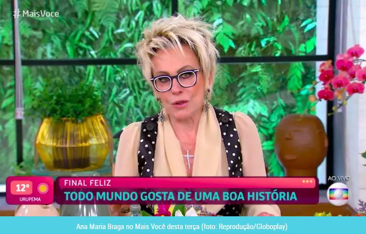Ana Maria Braga chora ao vivo no Mais Você após reportagem surpreendente