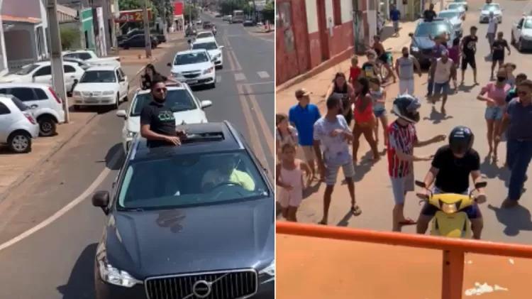 Empresário de MT distribui R$ 10 mil nas ruas e justifica: 'dividir lucro'
