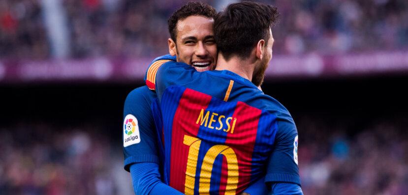 """Neymar celebra acerto do PSG com Messi: """"Juntos novamente"""""""